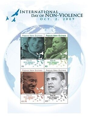 Day of Non violence, Obama, Diana, Gandhi, Martin Luther King Stamps scott #1405