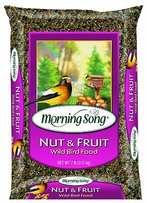 Morning Song Nut and Fruit Blend Wild Bird Food, 15-Pound , New, Free Shipping (Nut Free Bird Food)