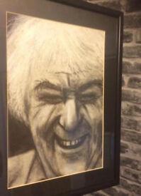 Irish Art. Hand Illustrated Original Portrait of Seamus Heaney poet by J.McKenna