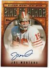 Joe Montana Autograph Football Cards