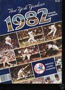 1982 Yankees Yearbook