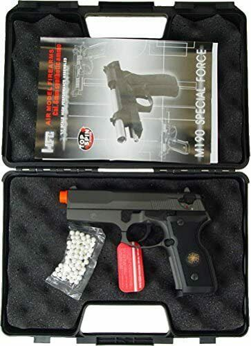 Full Metal Semi/Full Auto Gas Airsoft Blowback Pistol w/ Gun Case