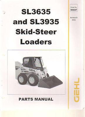 Gehl 3635 3935 Skid Steer Loader Parts Manual