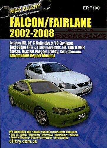 FALCON FAIRLANE FORD SHOP MANUAL SERVICE REPAIR ELLERY BOOK HAYNES