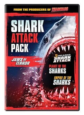 Shark Attack Pack Jaws Of Terror New Sealed Dvd 3 Films From Syfy