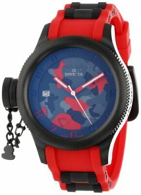 Invicta Women's 11357 Russian Diver Red Camouflage Dial SWISS MADE Watch