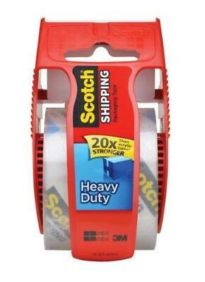 Scotch Heavy Duty Shipping Packaging Tape 1.88 Inch X 800 Inch Clearpack Of 3