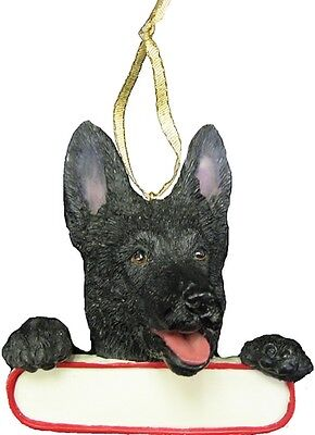 GERMAN SHEPHERD ~BLACK ~  ORNAMENT # 75B
