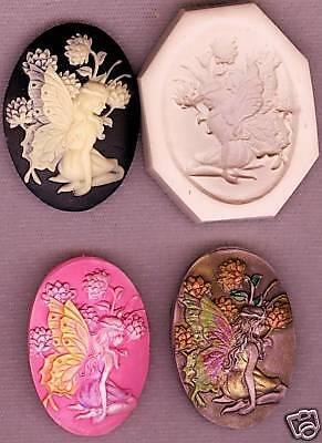 Cameo, Fairy/Butterfly Lady Handmade Polymer Clay Mold