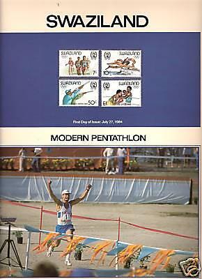 SWAZILAND 1984 WINTER OLYMPICS MNH MODERN PENTATHLON