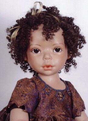 """COTTON"" Wig 12-13"",  Dark Brown by Monique. Lots of tight curls, Full Cap"