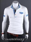 Mens Casual Slim Fit Polo Shirt T-shirts