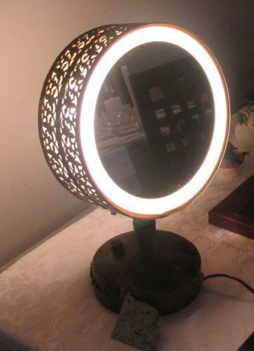 Vintage Lighted Vanity Mirror Ebay