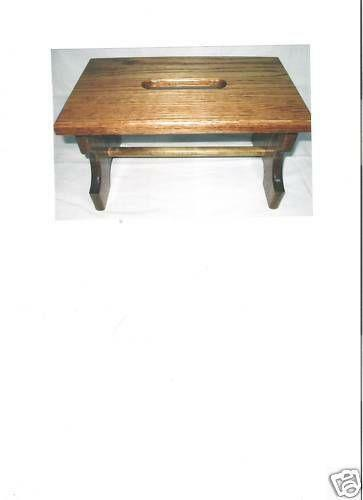 Wooden Step Stool Ebay