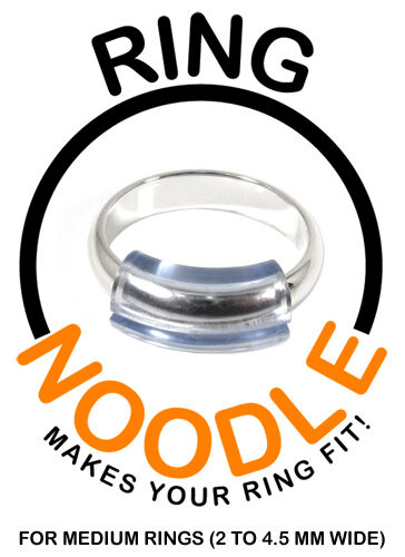 RING NOODLE - Ring Guard, Ring Size Reducer - Package of 3 (MEDIUM)