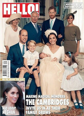 Hello Magazine July 2018 Prince Harry William Louis Meghan Markle Kate Middleton