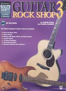 Guitar Rock Shop 3 Instructional Book with accompanying cd-New!