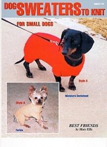 Dog Sweater Knitting Patterns to make sweaters for Small Dogs