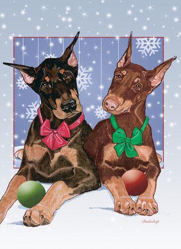 Doberman Pincher Christmas Cards Set of 10 cards & 10 envelopes