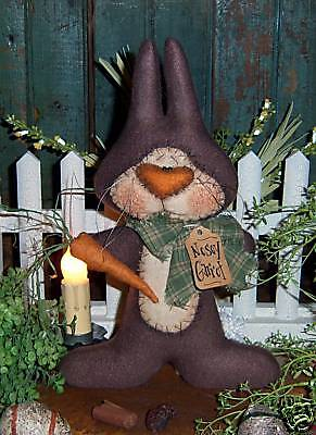 Patti's Ratties Primitive Carrot Bunny Rabbit Doll Ornie Paper Pattern #445