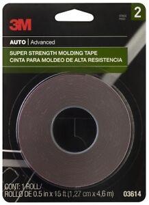 3M 03614 Super Strength Molding Tape, 2-Pack