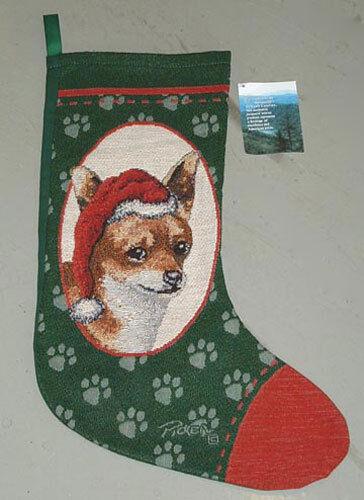 Chihuahua Tapestry Christmas Stocking ~ Artist, Linda Picken