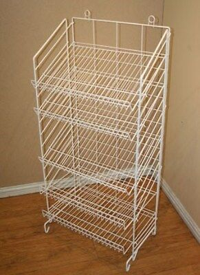 2 Floor Snack Display Rack - 5 Adjustable Shelf 24 Wide White