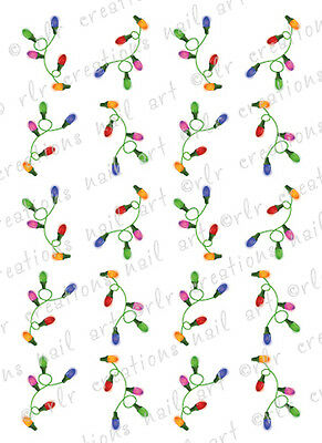 20 CHRISTMAS NAIL DECALS  *CHRISTMAS LIGHT STRINGS *  WATER SLIDE NAIL DECALS](Christmas Nail Decals)