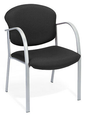 Ofm Model 414 Black Fabric Stackable Reception Guest Side Office Chair