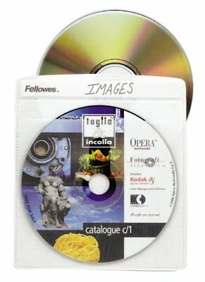 Fellowes Cd Album Refill Page - Book Fold - Plastic - Clear - 50 Cd/dvd (90661) Album Refill Pages Book Fold
