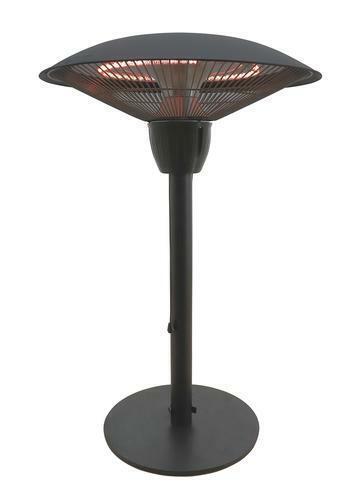 1500 Watt Black Tabletop Electric Halogen Patio Heater Indoo