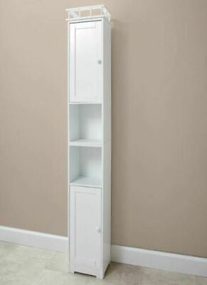Slim Storage Bathroom Cabinets - WHITE - NEW BOX