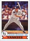 Wade Boggs Baseball Cards