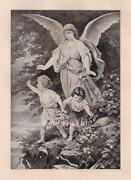 Vintage Guardian Angel Print