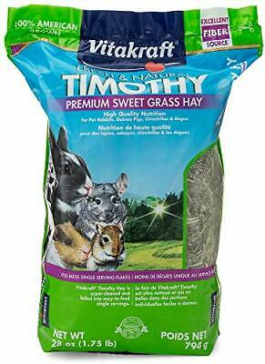 Vitakraft Timothy Hay - Premium Sweet Grass Hay - 100% American Grown, 28 Ounce
