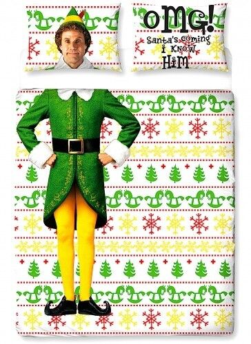 "Official Elf Buddy ""Reversible"" Character Double Duvet Cover Beddding Set"