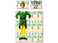 """Official Elf Buddy """"Reversible"""" Character Double Duvet Cover Beddding Set"""