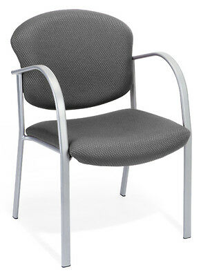 Ofm Model 414 Gray Fabric Stackable Reception Guest Side Office Chair