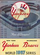 1957 World Series Program