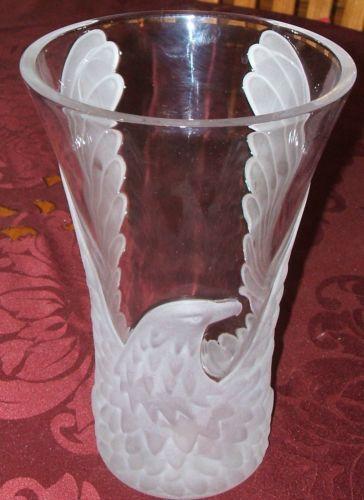 Etched Crystal Vase Ebay