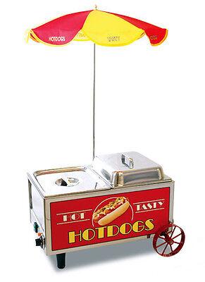 Hot Dog Cart Mini Hotdog Steamer Cooker Machine 60072