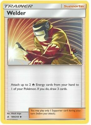 Pokemon TCG SM Unbroken Bonds 189/214 Welder Trainer Card
