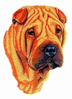 Large Embroidered Zippered Tote - Shar Pei BT2496