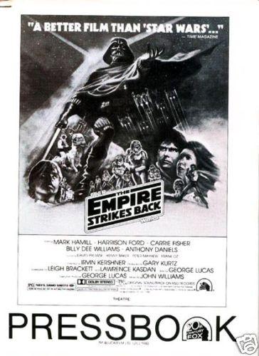 THE EMPIRE STRIKES BACK original 34 page 1980 movie pressbook