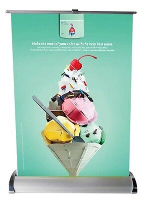 Mini Roll-up Retractable Banner Stand - A3 Size