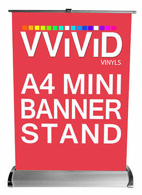 Retractable Table Top A4 Counter Banner Trade Show Stand Display Kit 8x 12