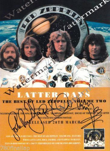 Led Zeppelin Signed Poster Ebay