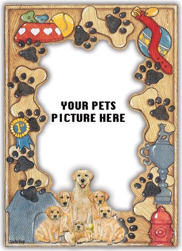 Labrador Yellow Picture Frame
