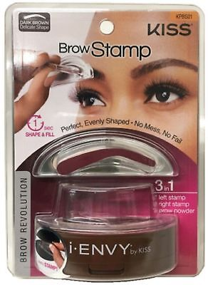KISS I-Envy Brow Stamp for Perfect Eyebrow, Dark Brown 1 ea