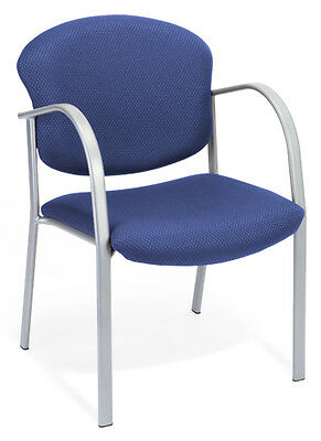 Ofm Model 414 Blue Fabric Stackable Reception Guest Side Office Chair